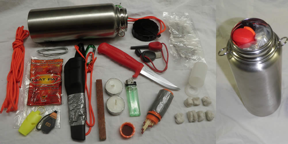 Stainless steel water bottles make great survival kits
