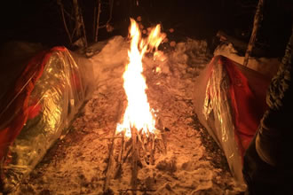 Modern Wilderness Survival Training in Winter