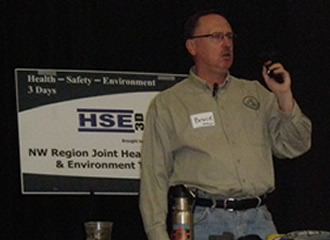 Bruce Zawalsky Speaking at ATCO Electric's Safety Days